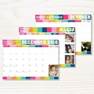 Personalised Fridge Calendar